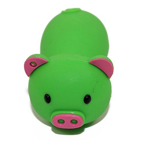 Lianguk 32GB USB 2.0Flash Drive a forma di gomma Piggy Pig memory stick-green