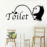pegatinas de pared tortugas ninja Wall Art Sticker Penguin Toilet Sticker for Wc Toilet restroom home decor