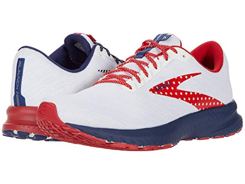 Brooks Launch 7 White/Blue/Red 10.5 D (M)