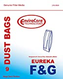 EnviroCare Replacement Premium Vacuum Cleaner Dust Bags made to fit Eureka F&G Uprights 9 bags