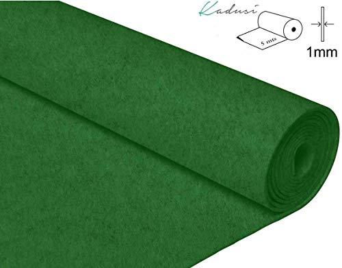(5mts) Fieltro color verde de 1mm de grosor para manualidades