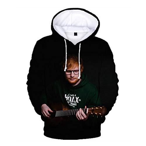 XXzcdsaa Ed Sheeran Print Hoodie Singer Hip Hop Sudaderas con Capucha 3D Sudadera Hombres Mujeres Pullover con Capucha Harajuku Sudaderas con Capucha De Gran Tamao-4_XL