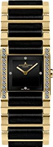 Jacques Lemans Women's G-210G Gloria Classic Analog Sapphire Glass and HighTech Ceramic and Genuine Diamonds Watch image