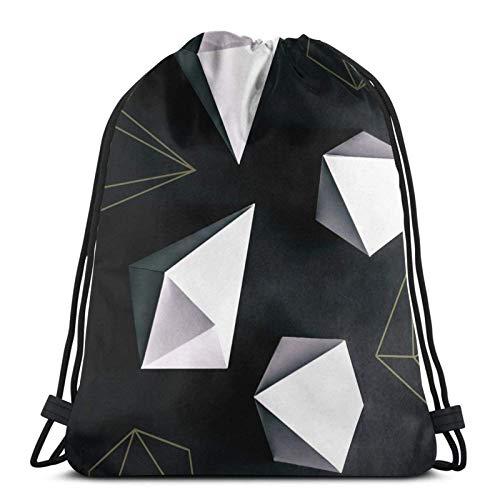 Origami # Bolsa de deporte Bolsa de gimnasio Drstring Mochila para ir al gimnasio