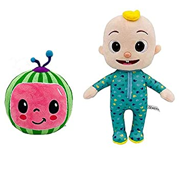 Cocomelon Toys JJ Plush Toy Stuffed Animal Toys JJ Watermelon Plush Boy Soft Stuffed Doll Family Character Toys for Children Birthday Gift JJ+Watermelon