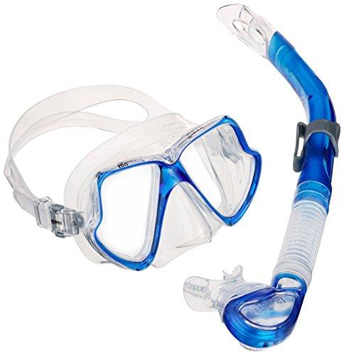 Mares Erwachsene Maske plus Schnorchel Set Wahoo, Blue/Clear, One size