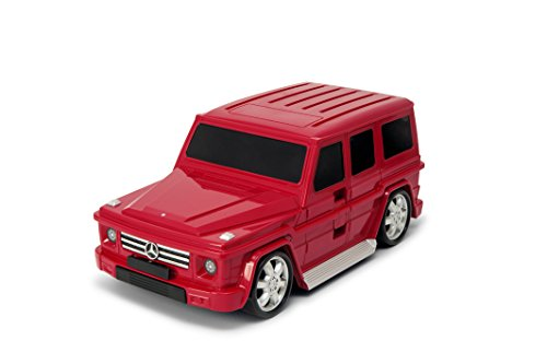 Packenger Kinderkoffer - Mercedes G-Klasse - Original Mercedes Benz Lizenzprodukt, Rot, Auto, Bordcase, Koffer mit Teleskopstange und Ziehgurt