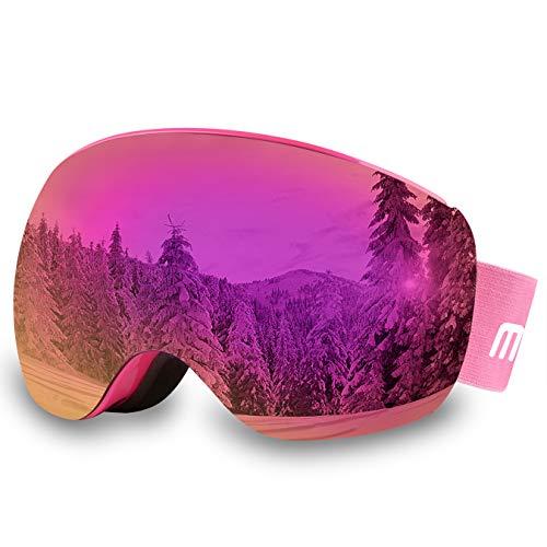 AKASO OTG Ski Goggles, Snowboard Goggles, Mag-Pro Magnetic Interchangeable Lenses, Anti-Fog, 100% UV...