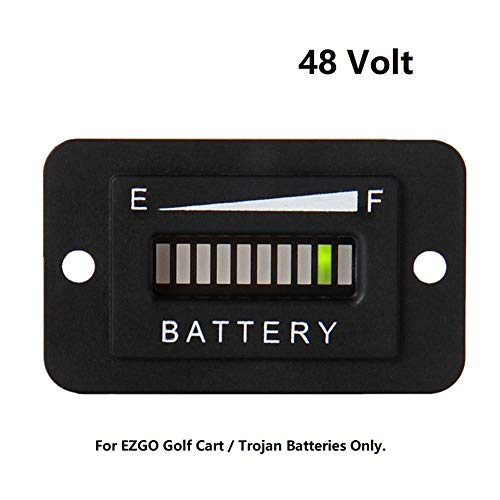 48V LED Battery Indicator Gauge - AIMILAR 48 Volt Battery Gauge Meter for EZGO Golf Cart Trojan Batteries