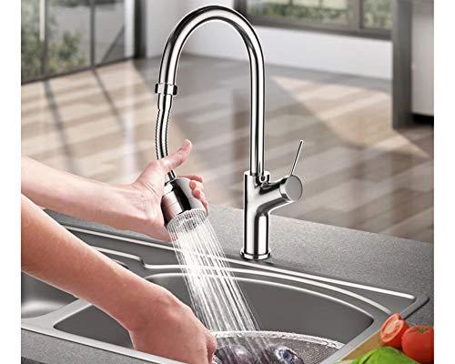 Boquilla de grifo de cocina giratoria de 360 grados con manguera giratoria y alargador grifo 3 modos ajustable aireador de grifo de cocina y baño