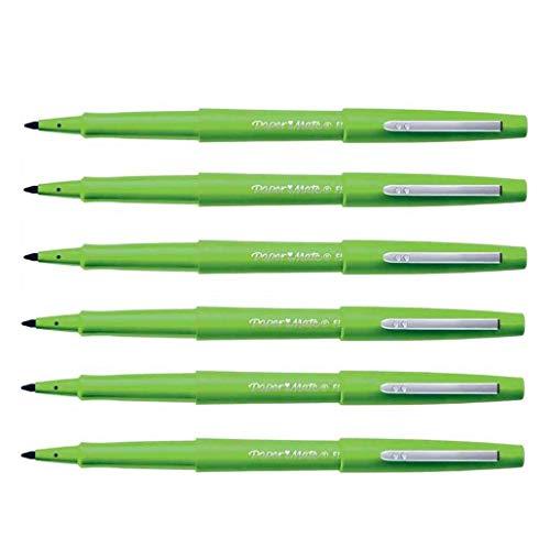 Paper:Mate – Lote de 6 bolígrafos de fieltro Flair Original de nailon, punta mediana, color verde manzana