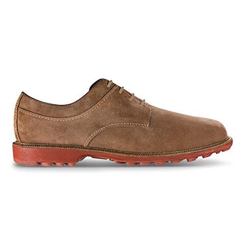 FootJoy Hombres Club Casuals-Zapatos de golf estilo temporada anterior, marrón (Marrón (Brown Suede)), 39.5 EU
