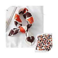 素敵な心印刷の小さなシルクスカーフヘアーネクタイ女性スクエアネックスカーフ福音肉女性バッグスキニーバンドネッカーチオバンダナ -FX-210