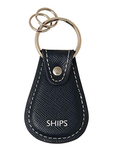 (シップス) SHIPS SAFFIANO KEY HOLDER 110030694 Navy2