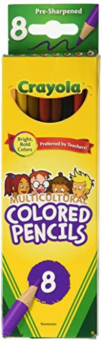 Crayola Multicultural Colored Pencils, 8/Pkg Long
