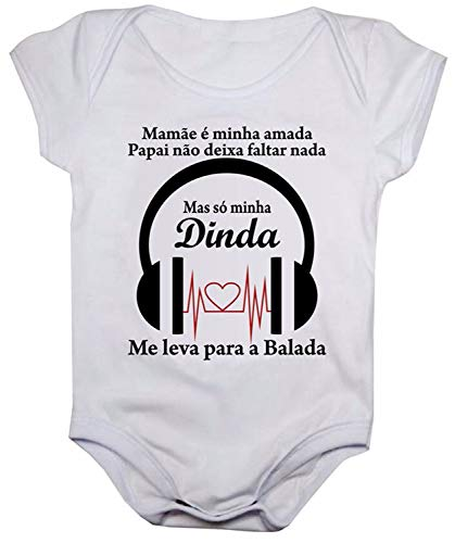 Body de bebê estampas divertidas (GG, Estampa dinda balada)