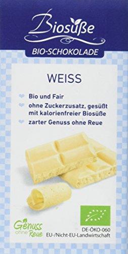 BIOSÜSSE Genuss ohne Reue Schokolade weiß, 4er Pack (4 x 40 g)