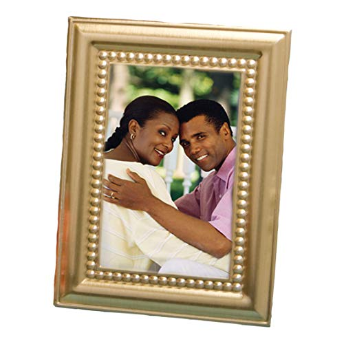Beaded Design Gold Metal Place Card/Photo Frames - 144 count