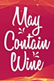 Hourly Study Planner - Womens May Contain Wine