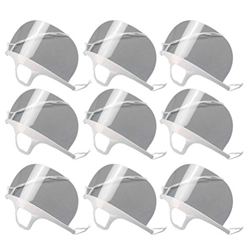 Hemoton 4 Piezas Protector Bucal Antivaho Cubierta de Boca de Saneamiento de Cocina Transparente para Salón de Belleza Hotel Taller Catering (Blanco)