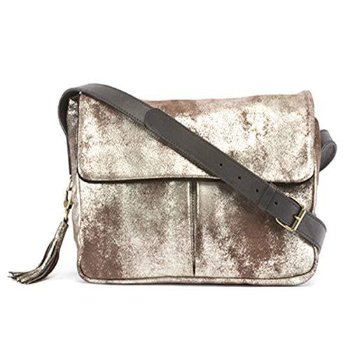 Lurex SAM High-Gloss Calfskin Leather Messenger Bag