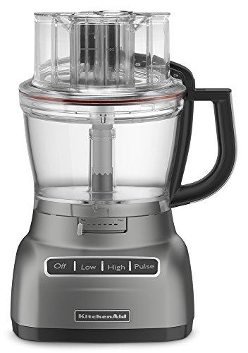 KitchenAid Food Processor with ExactSlice System RKFP1333CU, 13-Cup, Contour Silver, (Renewed)
