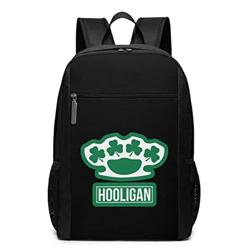ZYWL Irish Hooligan Laptop Rucksack, Reiserucksäcke School College Bookbag für Frauen und Männer 17 Zoll