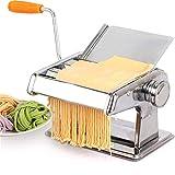 XIONGGG Máquina Manual De Acero Inoxidable para Pasta, Fideos, Fetuchine, Espagueti, Lasaña, Ravioles, Tagliatelle, Prensa De Rodillo