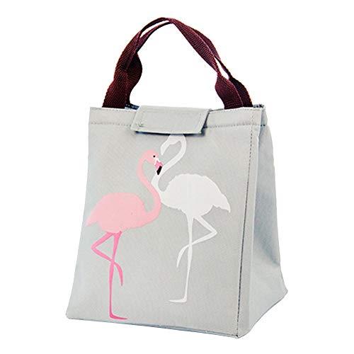 Fablcrew Sac à Déjeuner Modèle Portable Sac Repas Lunch Bag Isotherme Thermique Isolé pour Ecole Bureau Voyage Pique-Nique (Gris)
