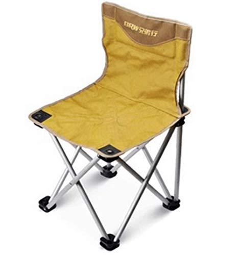 MJK Taburete pequeño, taburete para zapatos en la puerta, silla plegable de aluminio portátil al aire libre Silla de ocio ultra ligera para pesca Silla de playa Taburete pequeño Mazar,Pequeño