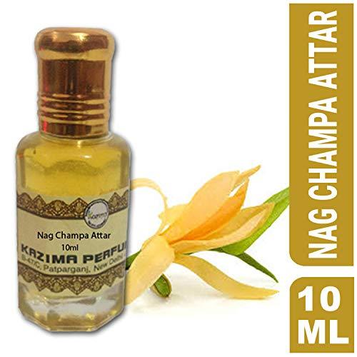 KAZIMA Nag Champa Attar Perfume For Unisex - Pure Natural Undiluted (Non-Alcoholic) (10ml)