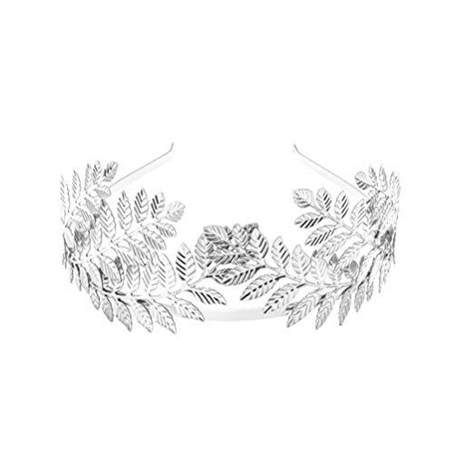 Minkissy Vintage Barock Hochzeit Olivenzweig Krone Und Tiara Barock Blatt Stirnband Haar Reifen Prinzessin Königin Krone Griechische Göttin Kopfbedeckung Haarschmuck...