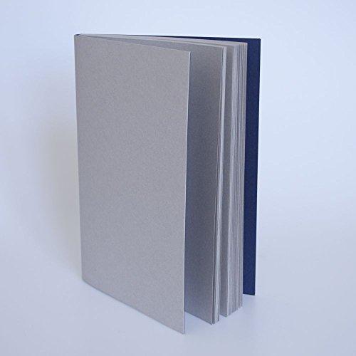 Gmund Notizbuch Sonderedition meinnotizbuch A5 GrauBlau | Schweizer Broschur | Überragende Papierqualität