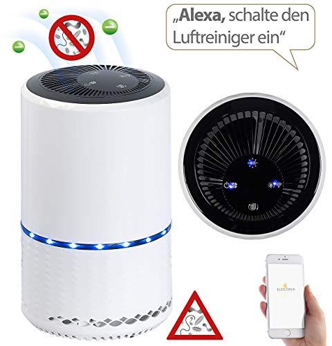 Sichler Haushaltsgeräte Luftreinigungsgerät: Luftreiniger mit Ionisator, 2in1-Luftfilter, WLAN und App, bis 30 m² (Luftreiniger mit HEPA)