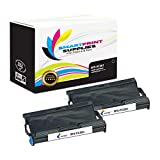 Smart Print Supplies Compatible Brother PC501 Black Ribbon Cartridge for Fax 575 Printer 5M Characters (2 Pack)
