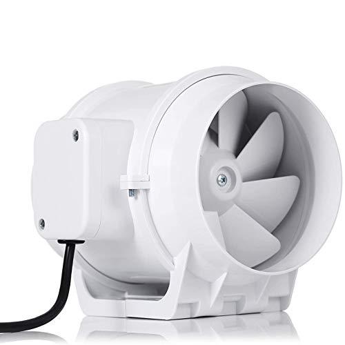 Ventilador centrífugo, HG Power 125mm Extractor Ventilador de Aire en Línea Super Ligero y Silencioso - 218m³/h