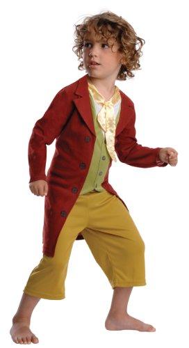 'Lo Hobbit' Bilbo Baggins costume. Giacca con annesso sciarpa, gilet e pantaloni. Età: anni 3/4 | Altezza: 104 centimetri.