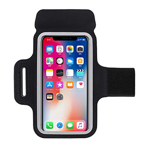GUZACK Running Phone Holder Cell Phone Armband Case for iPhone 12/12 Mini/12 pro/11/11 Pro/X/8 Plus/Galaxy S10/S9/S8 Plus Waterproof Cell Phone Armband for Jogging, Walking, Exercise and Gym Workout