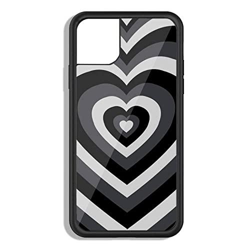 Custodia in gel di silice nera con cuore d'amore per PC TPU per IPhone 12 11 Pro Xs X Xr 7 8 Plus Max Se 2020, A1, per Galaxy S30 5G