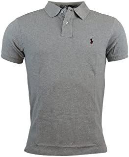 Ralph Lauren Mens Custom-Fit Mesh Polo Shirt Pony Logo