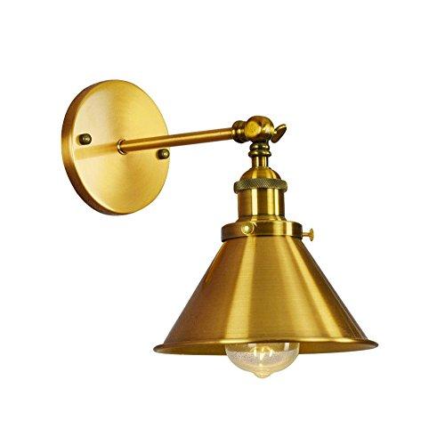 ZAKRLYB Lámpara de Aplique de Pared Ajustable de Oro con Brazo Largo y oscilante Aplique de Hierro Forjado Industrial Vintage E27 Estilo Edison Loft Estilo Edison Lámpara de Pared Plegable