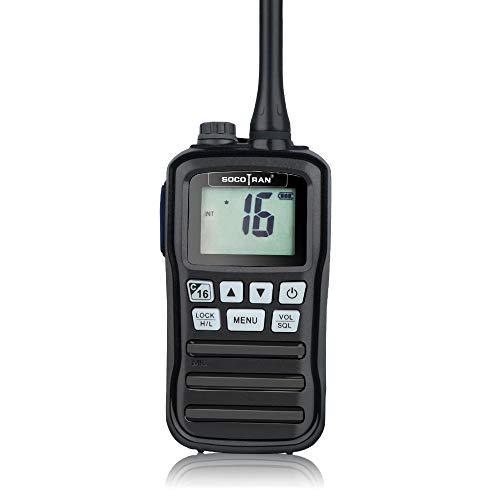 SOCOTRAN RS-25M VHF Marine Transceiver IP-X7 Waterproof Handheld Walkie Talkie Floating Boat Vessel Two Way Radio