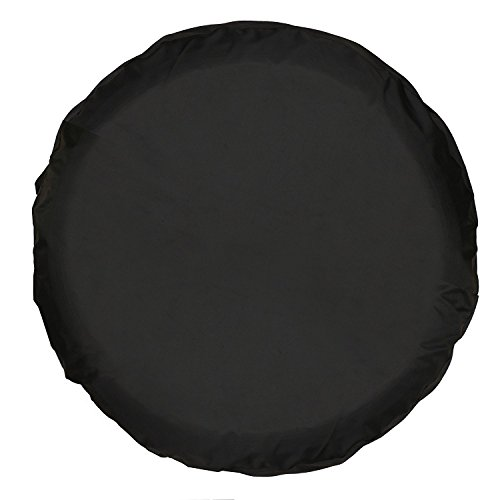 Moonet PVC Thickening Leather Spare Tire Wheel Cover for Car Truck SUV Camper Trailer Universal Fit RV JP FJ,R14 S Black (for Overall Wheel Diameter 24-26 inch)
