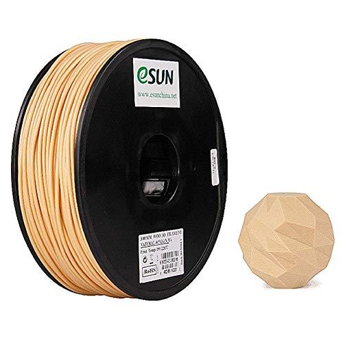 eSUN Wood PLA Filament 1.75mm, Wood Look 3D Printer Filament PLA, Dimensional Accuracy +/- 0.05mm, 0.5KG (1.1 LBS) Spool 3D Printing Filament for 3D Printers, Wood Color