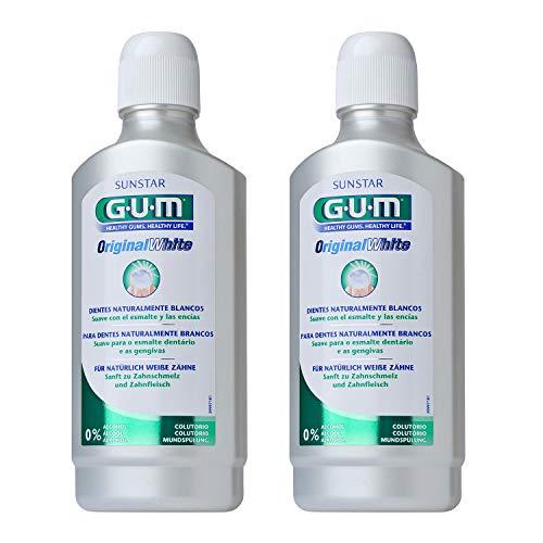 GUM Original White Mundspülung 500ml, DOPPELPACK (2x 500ml)