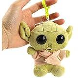 Plüsch-Baby-Yoda-Schlüsselanhänger, Plüschpuppe, hängendes Spielzeug für Schultertasche,...