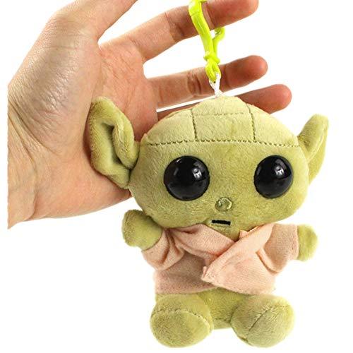 Plüsch-Baby-Yoda-Schlüsselanhänger, Plüschpuppe, hängendes Spielzeug für Schultertasche, Rucksack, Handtasche, Anhänger, kreatives Geschenk