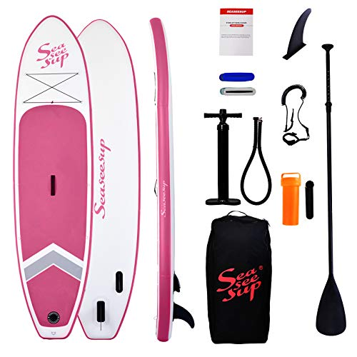 SEASEESUP Inflatable Stand Up Paddle Board for Adults Youth and Kids, 10'6'...