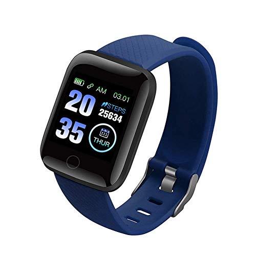 Smartwatch 116 Plus Reloj Inteligente Health Monitor compatible iOs y Android, Brazalete Inteligente. de ZTX Technology (Azul)