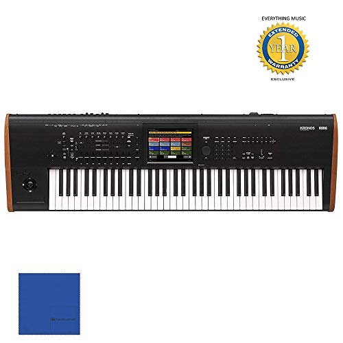 """Korg Kronos 73 note Keyboard Workstation Synthesizer with RH3 Graded Hammer Action , Solid state Internal Drive , 8"""" Color Touch View Display , 4 way Joystick , Ribbon Controller and 9 Sound Engines"""